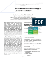 Evaluation of Part Production Methodology in Automotive Industry