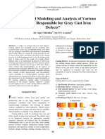 Mathematical Modeling and Analysis of Various Parameters Responsible for Gray Cast Iron Defects