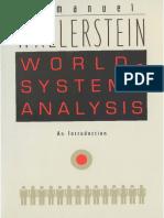 Wallerstein World System Analysis PDF