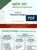 M101-Lec 3 Research Designs