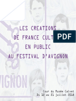 Créations de France Culture au Festival d'Avignon
