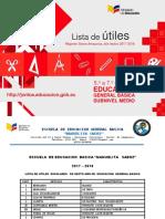 7.- Lista de Utiles 2017-2018