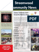 Streamwood Village Newsletter, July 2018