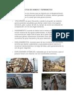 Efectos de Sismos y Terremotos