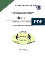 Sílabo de Comunicación Integral - Informática
