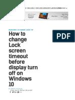 Screen Lock Settings