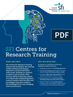 SFI Centres for Research Training 2018 Flyer