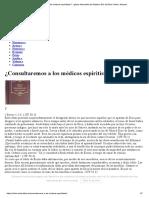 ¿Consultaremos a Los Médicos Espiritistas_ - Iglesia Adventista Del Séptimo Día de Elche_ Elche, Alicante