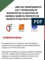 Observaciones Sobre El Proyecto Decreto de Etiquetado Frontal