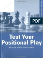 BATSFORD - Test Your Positional Play. How you should think in chess - Robert Bellin and Pietro Ponzetto, Foreword by Ljubomir Ljubojević