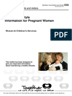 IFP 0686 Healthy Lifestyle Information for Pregnant Women