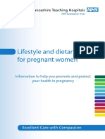 Lifestyle and Dietary Advice Pregnant Women