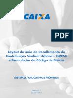 Layout de Guia de Recolhimento Da Contribuição Sindical Urbana v.1.1