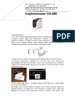 Portable Spectrophotometer CS 580 En