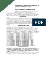 REGLAMENTO DE COPROPIEDAD Y ADMINISTRACIÓN DE EDIFICIO EN PROPIEDAD HORIZONTAL