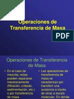 Transferencia de Calor y Masa, Operaciones de Transferencia de Masa
