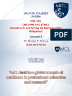 CHE 181 Lecture - Investments and.....