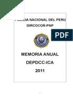 Memoria Anual 2011 - DEPDCC-ICA