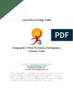 Geography 3 Plate Tectonics Earthquake Volcano Tides