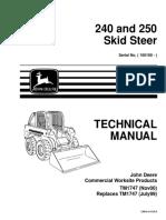 Mini Cargador John Deere 240 - Manual Tecnico