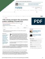 6. CPI a Lousy Measure for Monetary Policy Making Pronab Sen
