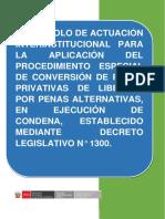 Protocolo Del Procedimiento Especial de Conversiàn de Penas, d.s. 014-2017