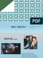 music analysis green day
