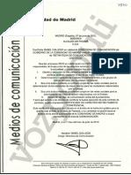 Certificación de la Comunidad de Madrid
