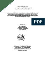 Integrasi Tanaman Kaliandra Dalam Kawasan an Sapi Perah