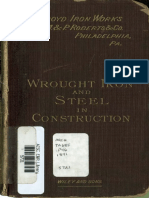 Wrought Iron and Steel in Construction 1891