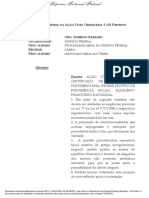 Liminar da ACO 3134 - certificado do Iprev