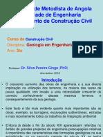 Apresentacao- Geologia Em Engenharia (Capitulo I- 2018)