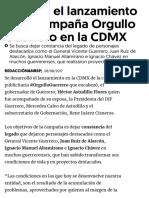 08-08-2017 Éxito en El Lanzamiento de La Campaña Orgullo Guerrero en La CDMX.