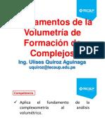 CLASE 10 - Fundamentos de La Volumetria de Formación de Complejos