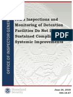 ICE's Inspections and Monitoring of Detention Facilities Do Not Lead to Sustained Compliance or Systemic Improvements