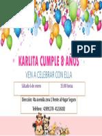 Karlita Cumple 8 Años