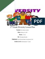 2nd grade diversity lesson   plan