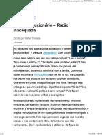 (Web) Blog Razão Inadequada. Devir-revolucionário