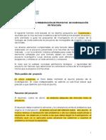 Formato Para El Proyecto Métodos de Investicación