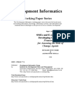 SMEs and E­commerce in Developing  Countries- Frameworks for Assessing the  Role of Change Agents