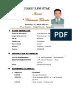 Curriculum Felix Eduardo Quispe Flores