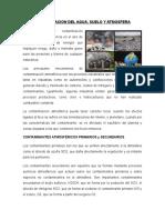 Contaminación de La Atmosfera Agua y Suelo