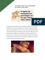 5 Señales de Que Estás Frente a Un Manipulador Psicológico y Que Debes Estar Alerta
