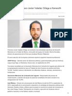 Se Integra Francisco Javier Valadez Ortega a Kenworth Mexicana