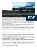 Anaerobic Digestion Fundamentals Fact Sheet