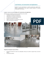 Exposed Concrete Floor and Finishes, Its Construction and Applications