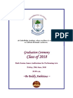 CBA Graduation Program Bermuda June 29 2018