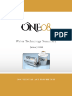 ONE08 - Water Technology Summary