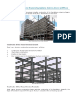 Construction of Steel Frame Structure Foundations_ Columns_Beams and Floors