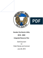Electric 2018-2022 IRP Draft for Public Review and Comment